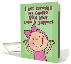 End of Chemo Party Invitation-Little Girl card