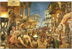 Streets of Rome at night, by Enrico Marini