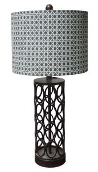 """Iron Circles Table Lamp AFW Our Price: $67.00  Dimensions: 28""""h x 15""""w x 15""""d  Product SKU: 109-DL0057 Brand: DIRECT LIGHTING LLC"""