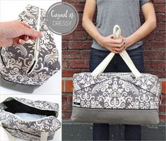The Perfect Damask Duffle   Sew4Home