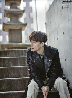 leather jacket :: Chen of #Exo for The Celebrity, January 2015