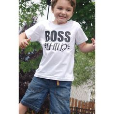 Toddler and Kids Summer Tees with Boss Child