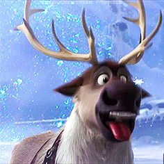 Basically anytime Sven did something cute or adorable: | 18 Reactions We All Had While Watching FROZEN - I didnt even look at the post, I'm just pinning because of this GIF!!!