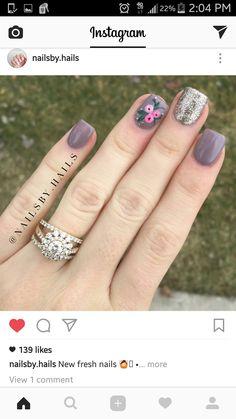 Pink Nail Art, Pink Nails, Romantic Nails, Pretty Nail Art, Manicure E Pedicure, Fabulous Nails, Flower Nails, Creative Nails, Toe Nails