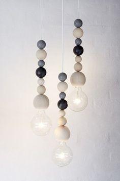 Applicata Ball Lamp - Grey - Another! Wood Pendant Light, Pendant Lighting, Furniture Makeover, Diy Furniture, Luminaire Original, Kids Bed Linen, Lamp Design, Lampshades, Home Decor Accessories