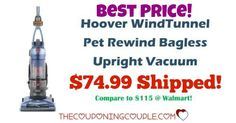 HOT BUY! Replace that old vacuum with the Hoover Windtunnel Pet Vacuum! Only $74.99! Compare to $115 at Walmart! Grab it at this AWESOME PRICE!  Click the link below to get all of the details ► http://www.thecouponingcouple.com/best-price-hoover-windtunnel-pet-bagless-vacuum-75/ #Coupons #Couponing #CouponCommunity  Visit us at http://www.thecouponingcouple.com for more great posts!