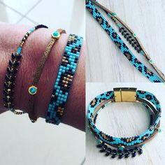 146 отметок «Нравится», 1 комментариев — Bijoux Lou&Nell-Cécile Miclard (@bijoux_lou_et_nell) в Instagram: «Nouveau bracelet multirang noir et turquoise déjà sur ma boutique A Little Market. J'ai utilisé les…»