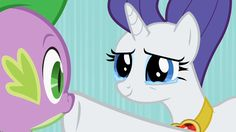 I never would've thought that I would like a dragon and a pony together. But Lauren Faust's re-vamped My Little Pony made it possible. :D    Rarity and Spike.