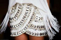 glammed up embellished skirt<3