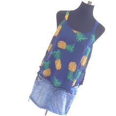 Pineapple Racerback W/ Pompoms FINAL PRICE DROP Super fun top! Tagged M but runs big. Can possibly fit up to L. Measurements on request.   Please ask ALL questions before you buy as all sales are final. I try to describe the items I sell as accurately as I can but if I missed something, please let me know FIRST so we can resolve it before you leave < 5rating.   TRADES/PP LOWBALLING (Please consider the 20% PM fee) ✅Offers only through the OFFER BUTTON  100% Authentic items   &  Free home…