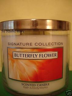 Bath & Body Works Butterfly Flower Candle 65 hour Large 3 Wick