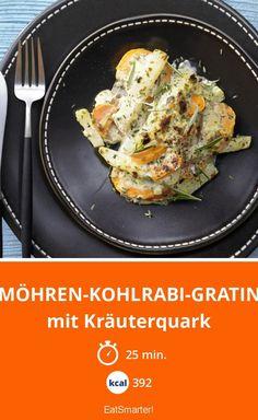 Möhren-Kohlrabi-Gratin - mit Kräuterquark - smarter - Kalorien: 392 kcal - Zeit: 25 Min. | eatsmarter.de