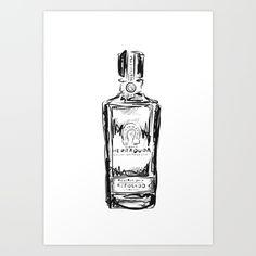 Herradura Tequila Bottle Illustration Poster by Maggie Andrews