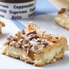 Cream Cheese Danish-Tired of boxed cereal or drive-thru biscuits for breakfast? Wrap up one of these tasty squares and take it with you. Breakfast to go never tasted so good. Breakfast Wraps, Breakfast Dishes, Breakfast Recipes, Breakfast Ideas, Breakfast Biscuits, Eat Breakfast, Breakfast Casserole, Dessert Recipes, Cream Cheese Crescent Rolls