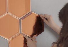 Mirrorize Hexagone Mirror / 20 x 20 cm - Set of 18 Smoke   Mirror Seletti