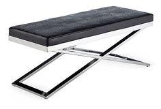 Crawford X-Base Bench, Black on OneKingsLane.com