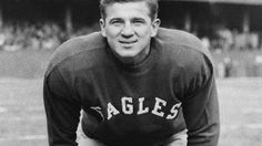Philadelphia Eagles - Chuck Bednarik - Inducted to Pro Football Hall of Fame in 1967 - Played for Eagles 1949 to 1962