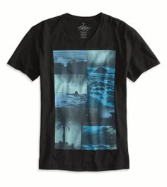 16d62471d10e AE Photo Real V-Neck T-Shirt Mens Outfitters