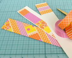Washi Tape Bookmark...cute and easy craft with supplies I already have.
