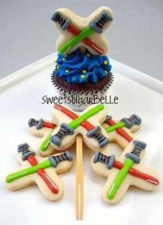 Light Saber Cupcake Toppers