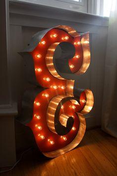CUSTOM MADE Marquee Letter Lighting ANY Letter by hammerandpaint, $135.00