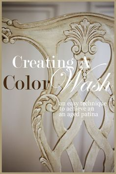 CREATING A COLOR WASH So easy! Lots of detailed instructions and pictures.