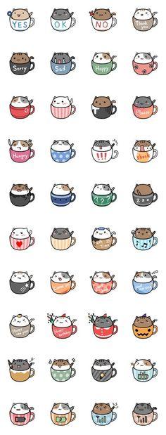 Gatos en tazas