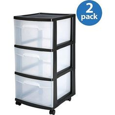 Baby Musical Toys - Sterilite 3Drawer Medium Cart Set of 2 * Click on the image for additional details.