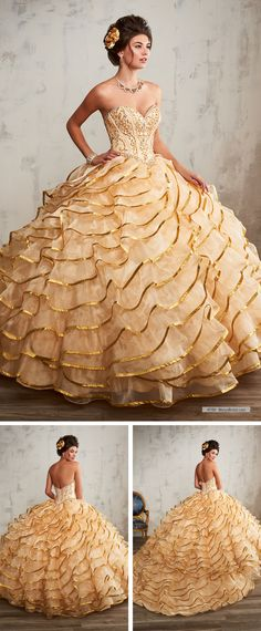 Quinceanera dress- These stylist tips from social occasions party planners will help you locate the perfect Quinceanera dress really quickly! Quince Dresses, 15 Dresses, Elegant Dresses, Pretty Dresses, Girls Dresses, Debut Gowns, Southern Belle Dress, Pretty Quinceanera Dresses, Bridal Wedding Dresses