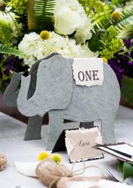 How cute is this table number by Paper Planet? Photo by Tracy Autem Photography #wedding #table #number #zoo #themed