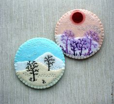 Landscaping Ideas Around Trees Circles 29 Trendy Ideas Felt Diy, Handmade Felt, Felt Crafts, Fabric Crafts, Sewing Crafts, Diy Crafts, Felt Christmas Decorations, Felt Christmas Ornaments, Christmas Crafts