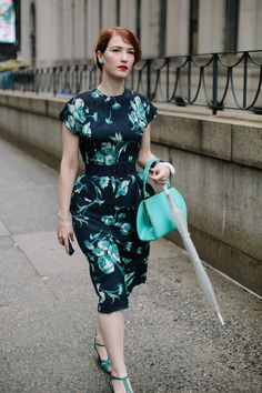 New York Fashion Week street style. Matchy, matchy trend!