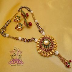 Antique polki kundan temple jewellery