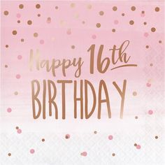 Serve up yummy sweet and treats at your Birthday Celebration Rose Gold Foil Party Napkins 16th Birthday Wishes, Sweet 16 Birthday, Happy Birthday Greetings, Girl Birthday, Birthday Banners, Birthday Month, Funny Birthday, Birthday Gifts, 30th Birthday Ideas For Women