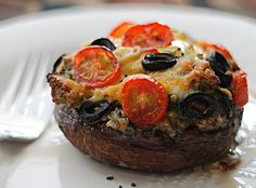 Stuffed Portabello Mushroom Caps- a taste to die for!
