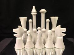 Modern ceramic chess.