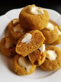 Pumpkin Cheesecake Thumbprint Cookies – Low Carb, Gluten Free – To Temptation Thumbprint Cookies, Low Carb Sweets, Low Carb Desserts, Keto Cookies, Cookies Et Biscuits, Gluten Free Recipes, Low Carb Recipes, Healthy Recipes, Ketogenic Diet