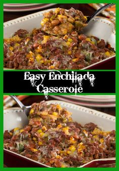 Cook up a family-pleasing Tex-Mex dinner in just 30 minutes with our recipe for Easy Enchilada Casserole. This casserole is full of hearty ground beef and lots of Southwestern ingredients, like corn, bean, and peppers. It's one dinner they're going t Healthy Casserole Recipes, Healthy Recipes, Healthy Meals, Easy Dinner Recipes, Easy Meals, Dinner Ideas, Easy Enchilada Casserole, Mince Recipes, Sugar Free Recipes