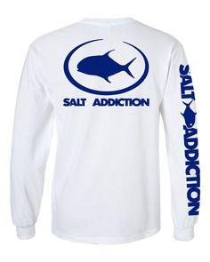 Salt Addiction Saltwater Fishing short sleeve t shirt permit flats ocean fish