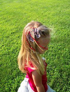 etsy Horse Hair clip with long ribbon mane pony fair  4h by NiahBella, $4.00