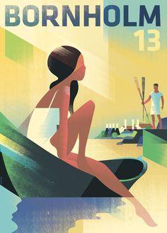 Illustrazioni retrò di Mads Berg, un modernissimo mix dal passato