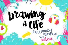 cool Drawing a Life - Brush Font CreativeWork247 - Fonts, Graphics, Themes,... Creative Fonts, Creative Sketches, Texture Web, Pretty Fonts, Beautiful Fonts, Hand Drawn Fonts, Design Typography, Photoshop, Brush Font