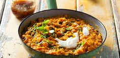 Tomato, Spinach and Coriander Dhal