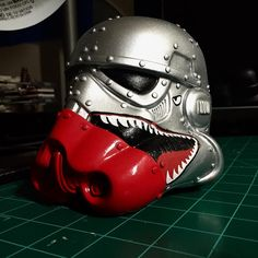 My paint lines are shitty.... you learn from your mistakes. #starwars #stormtrooper #custom #customvinyl #diy #painting #ww2 #sharktooth #p40warhawk