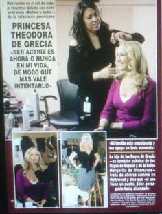"""HRH Princess Theodora joins the cast of """"The Bold and The Beautiful"""" (Belleza y Poder) as the recurring character of Alison, secretary to Bill Spencer (Don Diamont).  Interview by Franck Rogaine."""