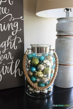 Blue Christmas Blog Hop: Decorating with blue for Christmas