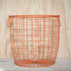Wire Basket Large Tangerine - Down To The Woods