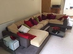 Hardly used extremely comfortable Natuzzi sofa set in Alcantara in great condition. Selling due to d