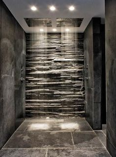 Fashion – Douche italienne : 33 photos de douches ouvertes – Looks Magazine Dream Bathrooms, Beautiful Bathrooms, Luxury Bathrooms, Master Bathrooms, Master Baths, Log Cabin Bathrooms, Modern Master Bathroom, Minimalist Bathroom, Modern Bathroom Design