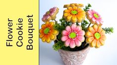 Cookie Bouquet - Gerbera Flower Cookies - How to make